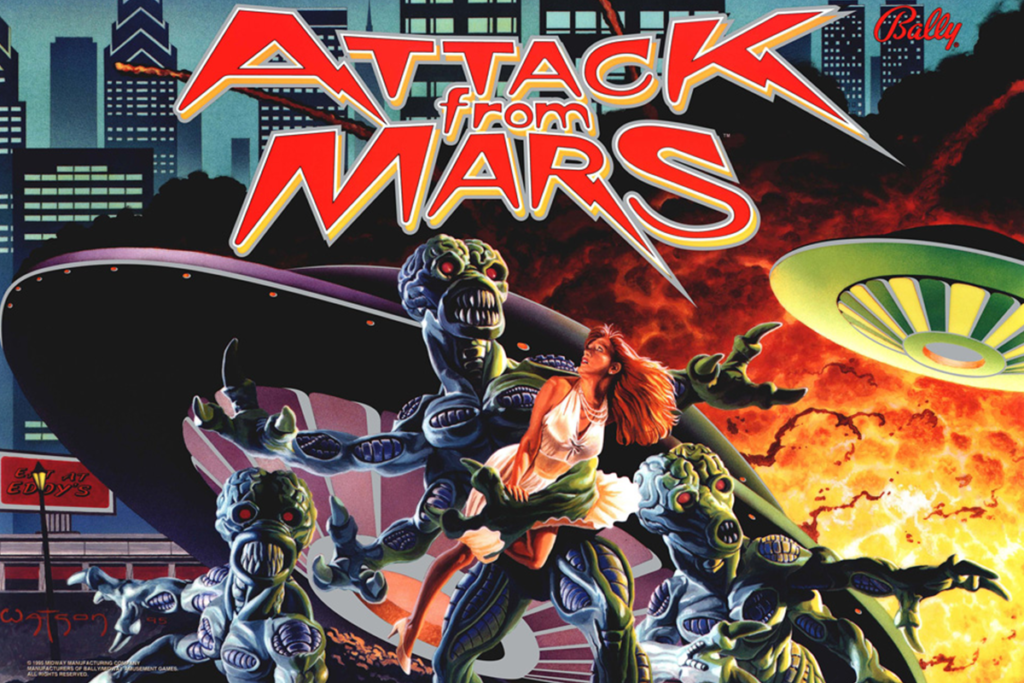 Attack From Mars translite image