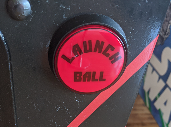 Launch Ball Button on an Attack From Mars pinball machine