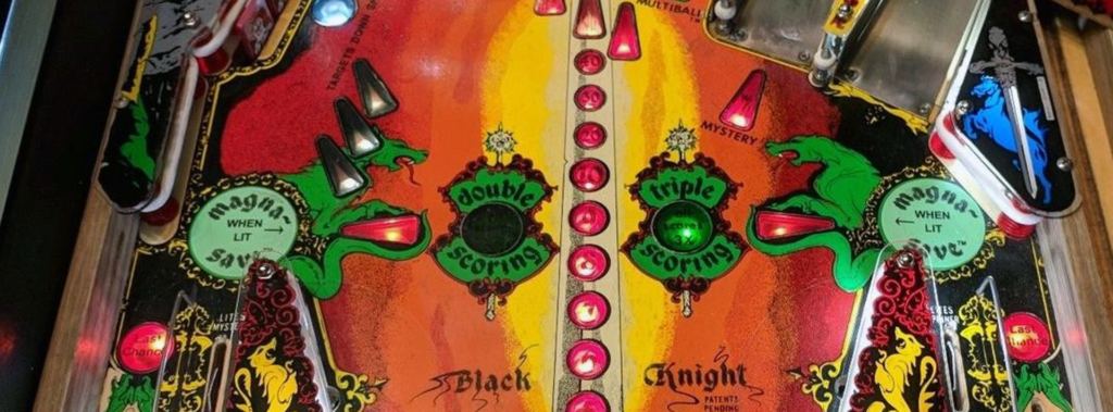 Black Knight pinball multiplier inserts