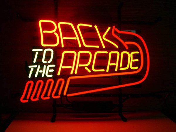 Back to the Arcade neon