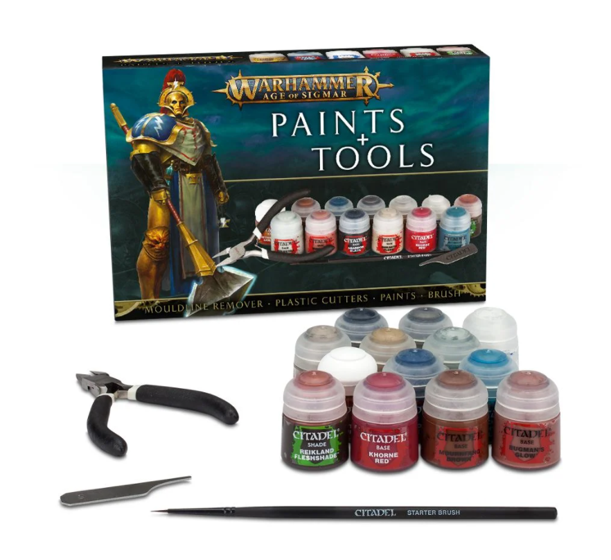 Warhammer Age of Sigmar Paint and Tool Set