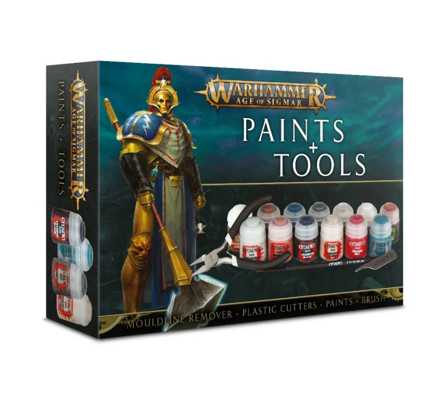 Warhammer Age of Sigmar Paint and Tool Set box