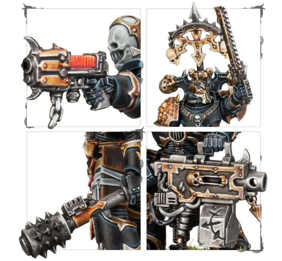 Chaos Space Marine model detail