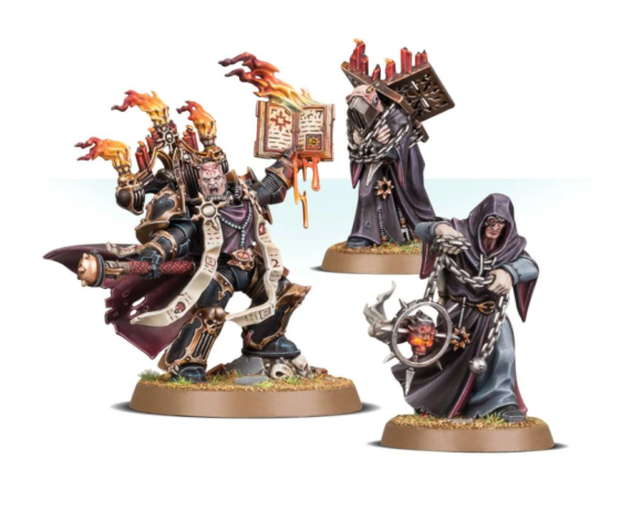 Chaos Space Marine Dark Apostle with Dark Disciples