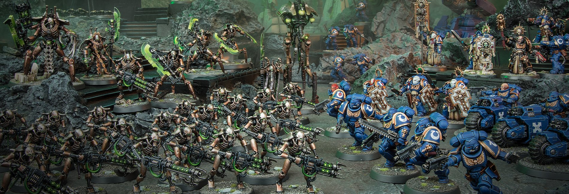 Warhammer 40000 Necrons VS Space Marines