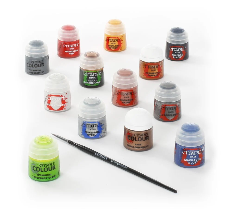 Citadel paints and brush