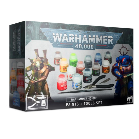 40k Paints and Tools Set