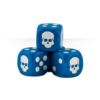 Dice Cube Blue Detail