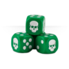 Dice Cube Green Detail