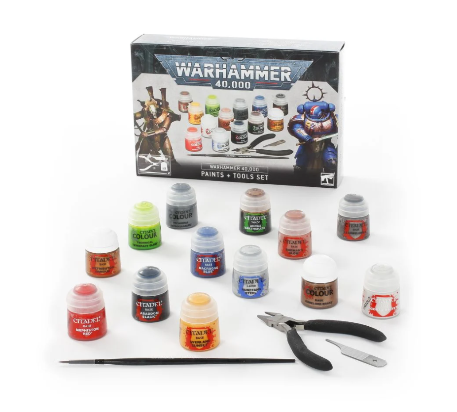 Warhammer 40k Paint and Tools Set